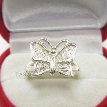 แหวนผีเสื้อ แหวนเงินแท้ 925 #2