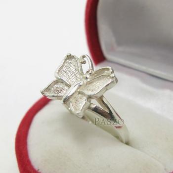 แหวนผีเสื้อ แหวนเงินแท้ 925 #3