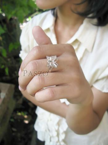 แหวนผีเสื้อ แหวนเงินแท้ 925 #5